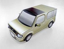Papercraft de un Nissan Cube. Manualidades a Raudales.