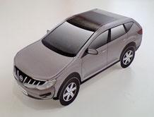Papercraft imprimible y armable de un Nissan Murano. Manualidades a Raudales.
