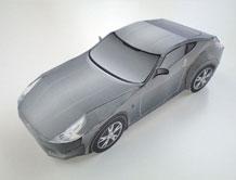 Papercraft de un Nissan Fairlady Z.
